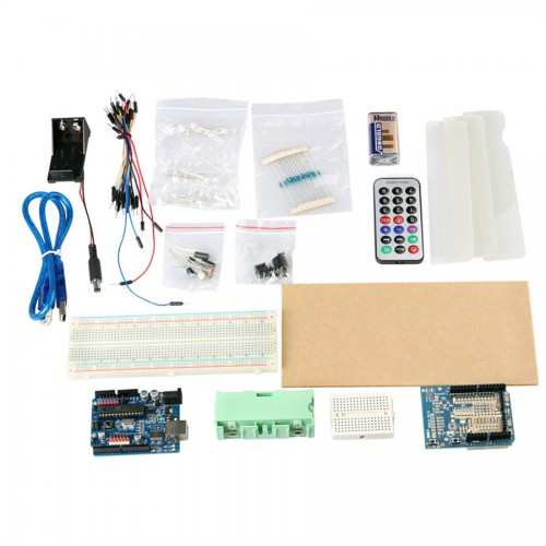 ATmega 328P Basic Kits for Arduino Starters ( White + Black + Green )