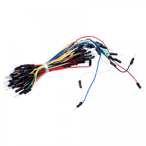 Electronic DIY 65pcs Breadboard Jumper Cable Wires - Multicolor 5pcs/lot