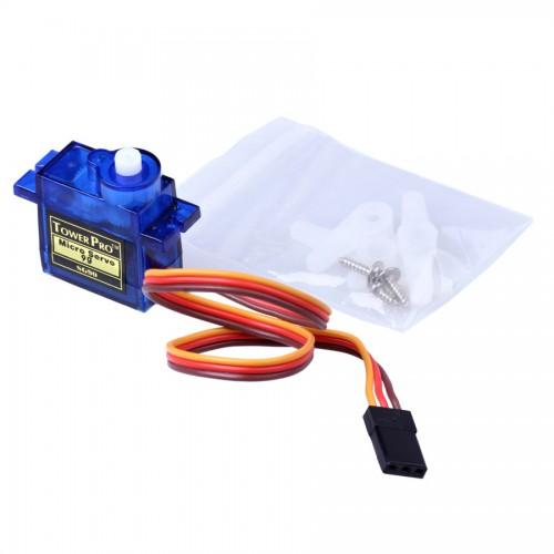Mini 9G Servo with Accessories - Translucent Blue 5pcs/lot