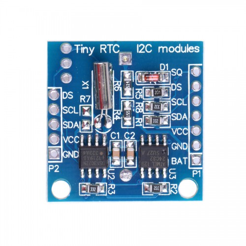 Arduino DS1307 I2C RTC DS1307 24C32 Real Time Clock Module - Blue 5pcs/lot