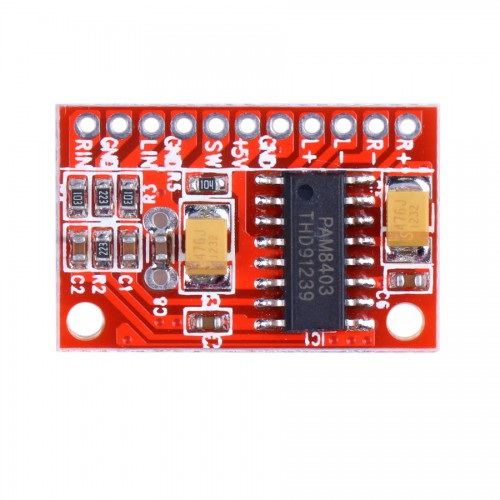 2 Channels 3W PAM8403 Audio Amplifier Board ( Red Color ) 5pcs/lot