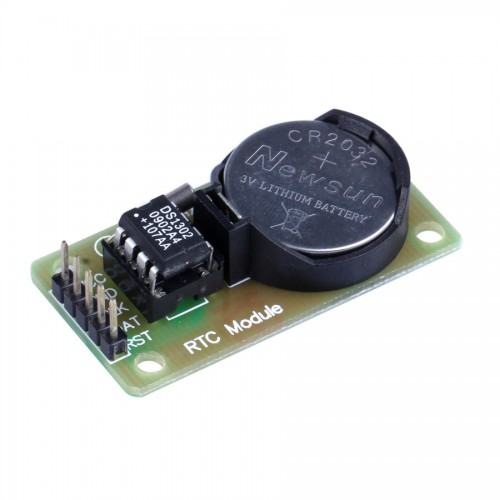 DS1302 Real Time Clock Module with CR2032 Button Cell ( Black + Green ) 10pcs/lot