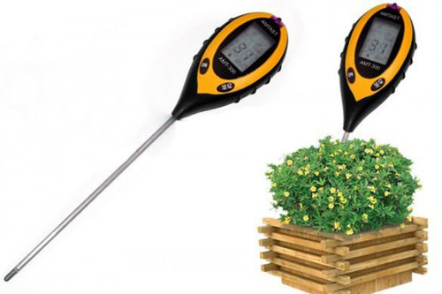 4 in1 Professional LCD Temperature Moisture Sunlight Garden Plant Soil PH Tester Meter