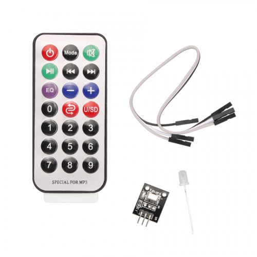 4 in 1 Arduino IR Receiver Module Wireless Remote Control Kit (2×AG10) 5pcs/lot