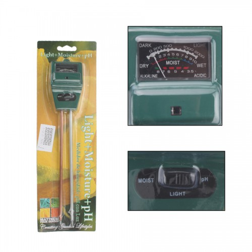 5pcs/lot 3 in 1 Soil Moisture Sunlight PH Meter Tester Garden Plant Flower Digital Tester