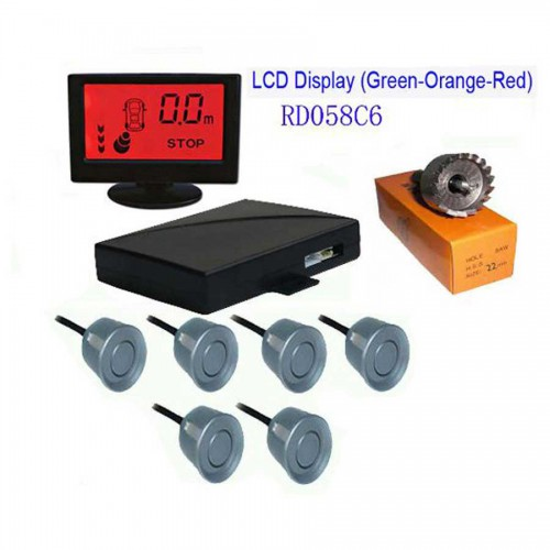 Colorful LCD With 6 Sensors Parking Sensor