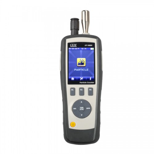 CEM DT-9880 6 Channel Particle Counter with TFT Camera -20.0ºC to 500.0º 4 in 1