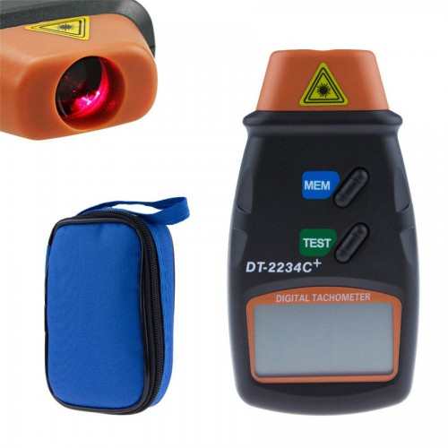 DT-2234C+ Portable LCD Digital Laser Photo Tachometer Non Contact Auto RPM Tester