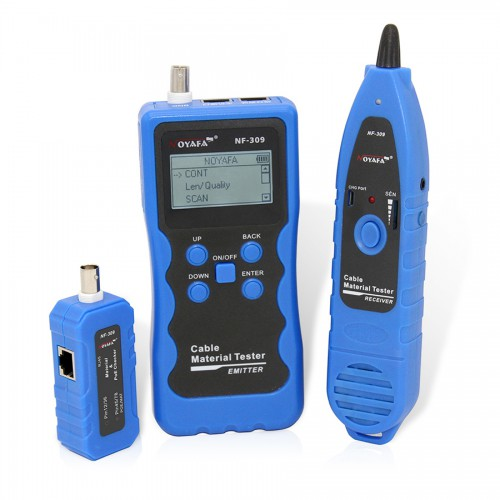 Newest Noyafa NF-309 Multifunctional Cable Tester tracker for Cat5 Cat6 & Non-standard Ian Cable Trace RJ45 RJ11 Coaxial cables