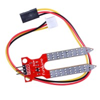 Soil Moisture Sensor Ground Humidity Sensor Module Silver +Red