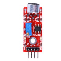 High Quality Arduino Microphone Sound Detection Sensor Module ( Red and Blue Color ) 5pcs/lot