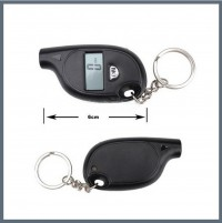 Mini Portable Mini LCD Digital Tyre Tire Air Pressure Gauge Tester w Keychain for Car Motorcycle