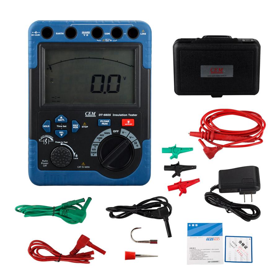 DT6605 Digital High Voltage Insulation Resistance Tester Megger Meter