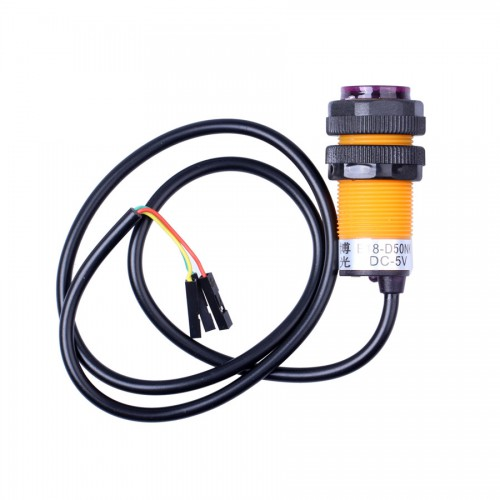 IR Infrared Sensor Switch with Fixed Rings - Orange + Black 5pcs/lot