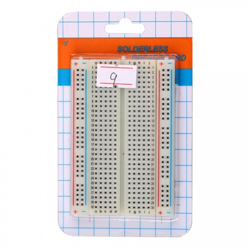 High Quality Solderless Breadboard with 400 Tie-Points ( White Color ) 5pcs/lot