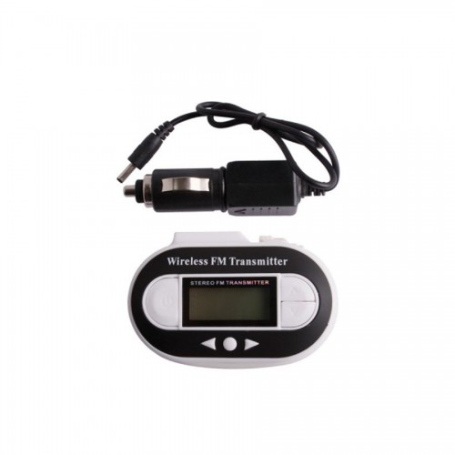 New Wireless FM Transmitter + Car Charger for MP3 iPod Player White