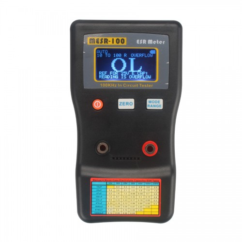 High Resolution MESR-100 V2 Auto Ranging In Circuit ESR Capacitor /Low Ohm Meter  with LCD Display and Support external USB power