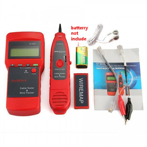 NF8208 Network LAN Cable Tester Wire Tracker Tracer Length Scanner RJ45 Lower Price