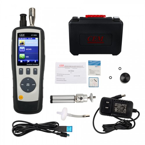 DT-9881 CEM Handheld 4 in 1 Particle Counter PM2.5 with Camera + IR AIR GAS (HCHO/CO) Meter