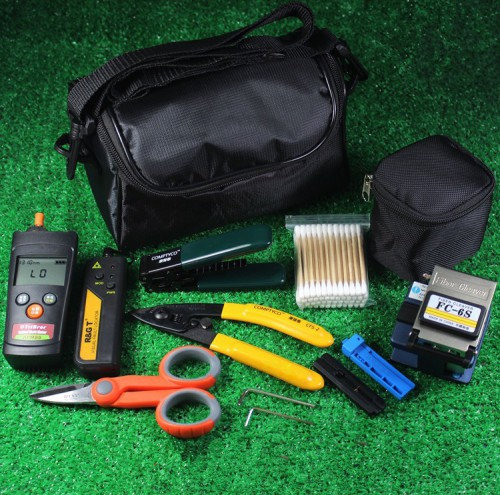 Fiber Optic FTTH Tool Kit Fiber Cleaver FC-6S +1mw Visual Fault Locator+mini Fiber Optical Power Meter
