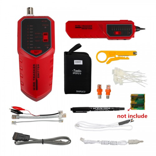 NF168 Professional Network Telephone Wire Tracer Tester Tool Kit with Variety of Adapters