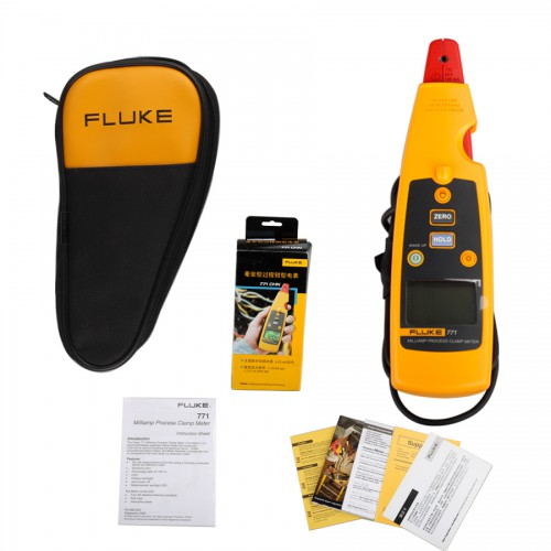 Fluke 771 Milliamp Process Clamp Meter DMM Test AC MA Tester
