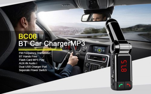 BC06 Blue-tooth Car Charger Mp3 Player for Vehicle