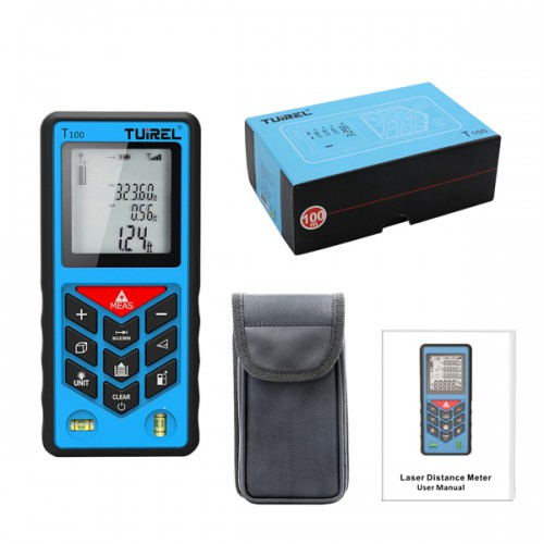 Free shipping from US! Tuirel T100 Handheld 100m/328ft/3937inch Laser Distance Meter Range Finder Measure Instrument Diastimeter