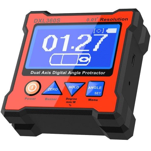 DXL360S V2 GYRO + GRAVITY 2 in 1 Digital Protractor Inclinometer Dual Axis Level Box 0.01° resolution 134