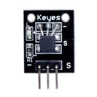 Digital Temperature Sensor Module DS18B20 for Arduino (-55~125℃) Black Color 5pcs/lot