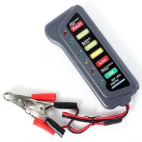 Tirol 12 Volt Battery and Alternator Tester with 6 Led lights Display For Cars and Trucks
