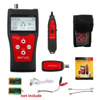 NF-300 LCD Display Telephone Network Error Cable Wire Tracker BNC tester Length Scanner without noise