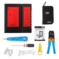 NOYAFA Durable RJ45 RJ11 LAN Network Tool Kit Cable Tester Crimper Stripper Set
