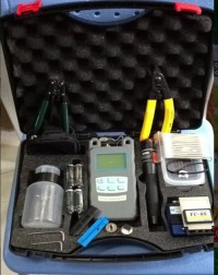 FTTH Tool Kit Fiber Optical Power Meter+10MW Visual Fault Locator+Fiber Cleaver FC-6S
