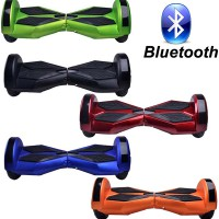 "Lower Price 8"" Self Balancing Scooters with Bluetooth Speaker Balance 2 Wheel Electric Scooter w/LED"
