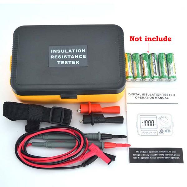 VC60B+ Digital Insulation Resistance Tester Megger MegOhmmeter Meter