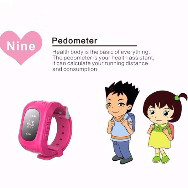 GSM Wrist Watch Phone LBS GPS Tracker Location Anti-lost SOS For children Kids