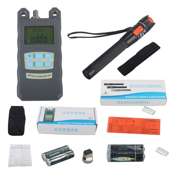 Handheld Portable Optical Power Meter with SC FC ST Connector for Testing Fiber Cable Fault
